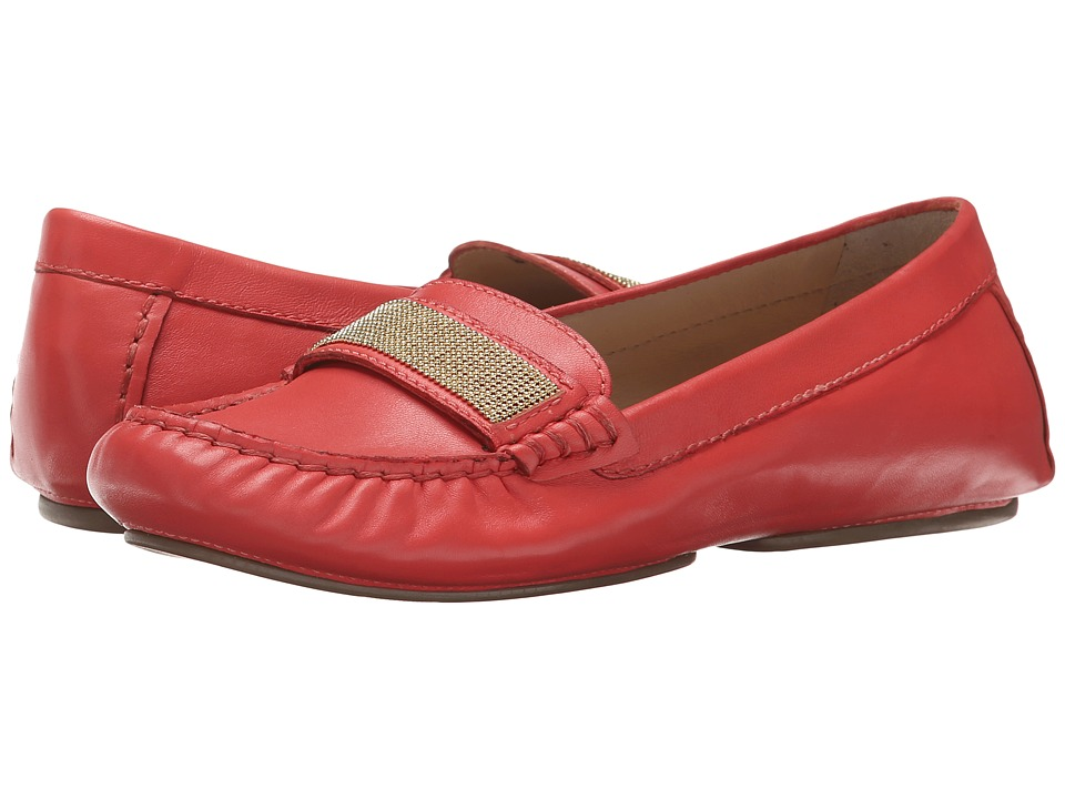 Franco Sarto - Mezza (Coral Leather) Women's Flat Shoes