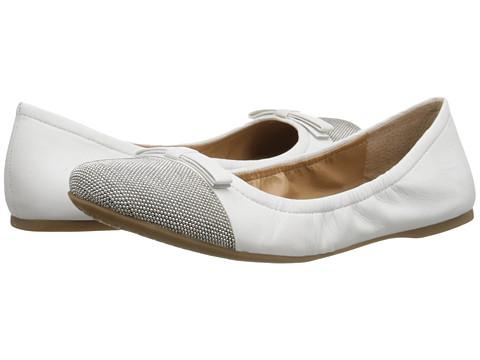 Franco Sarto - Centara (White Leather) Women's Flat Shoes