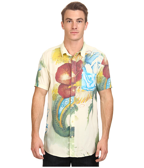Deus Ex Machina - Belbin Watercolour Floral Shirt (White) Men's T Shirt