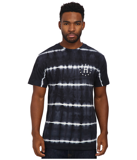 HUF - 12 Galaxies Lightning Stripe Tee (Black) Men's T Shirt