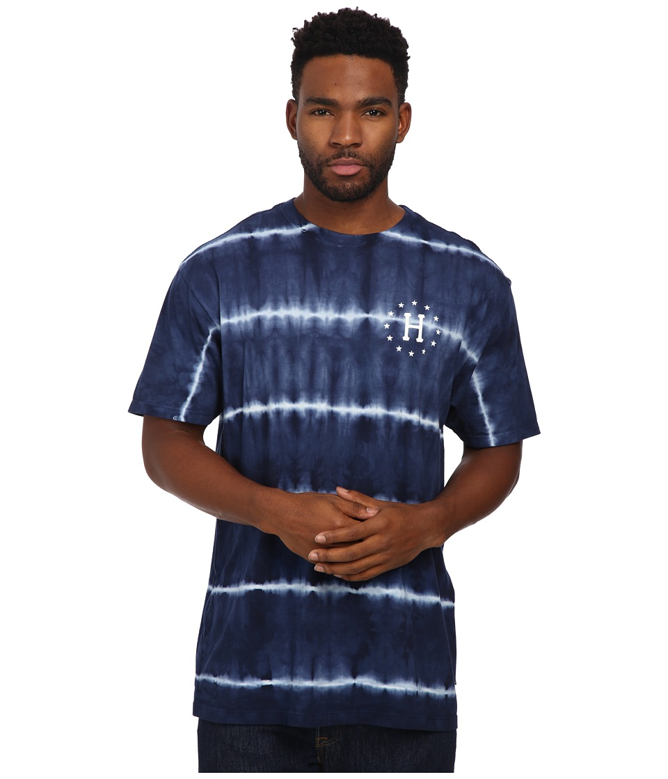 HUF - 12 Galaxies Lightning Stripe Tee (Navy) Men's T Shirt
