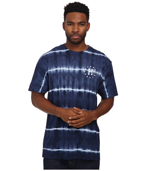 HUF - 12 Galaxies Lightning Stripe Tee (Navy) Men
