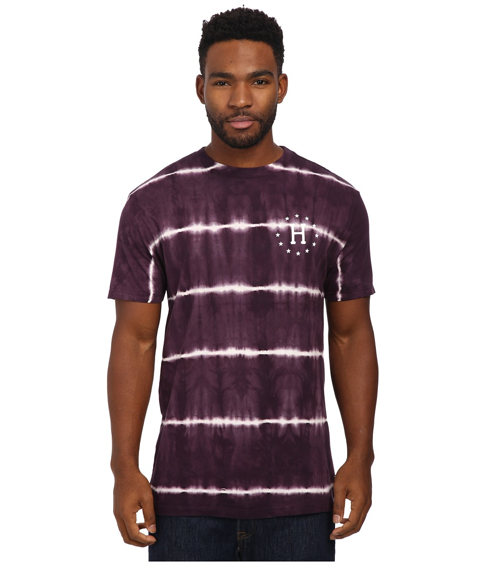 HUF - 12 Galaxies Lightning Stripe Tee (Wine) Men's T Shirt