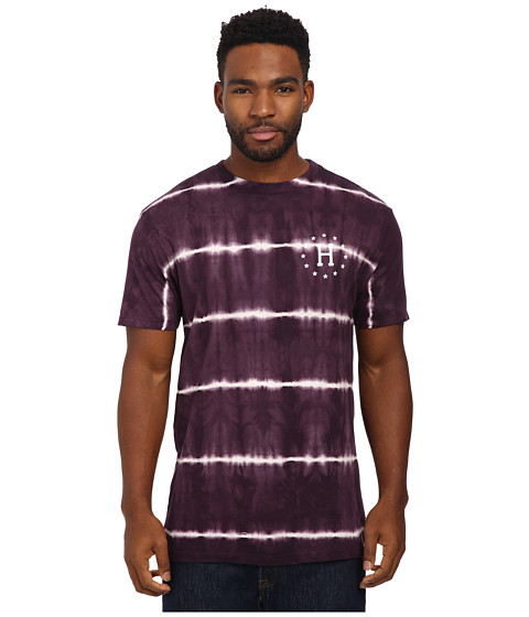 HUF - 12 Galaxies Lightning Stripe Tee (Wine) Men