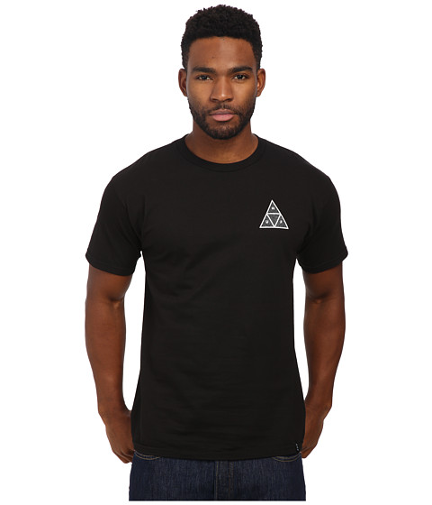 HUF - Triple Triangle Identity Tee (Black) Men