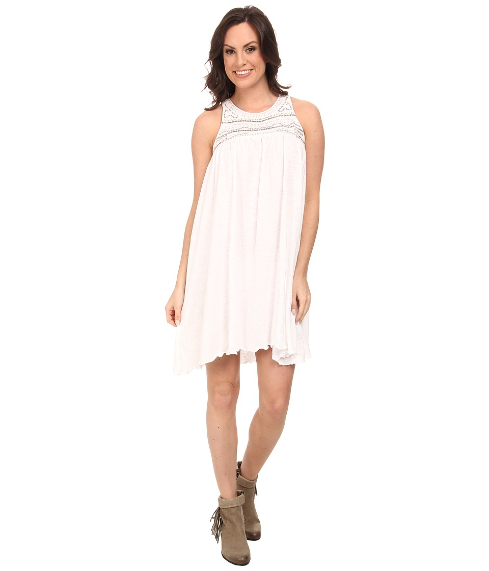 Rock and Roll Cowgirl - Sleeveless Dress (Off White) Women's Dress
