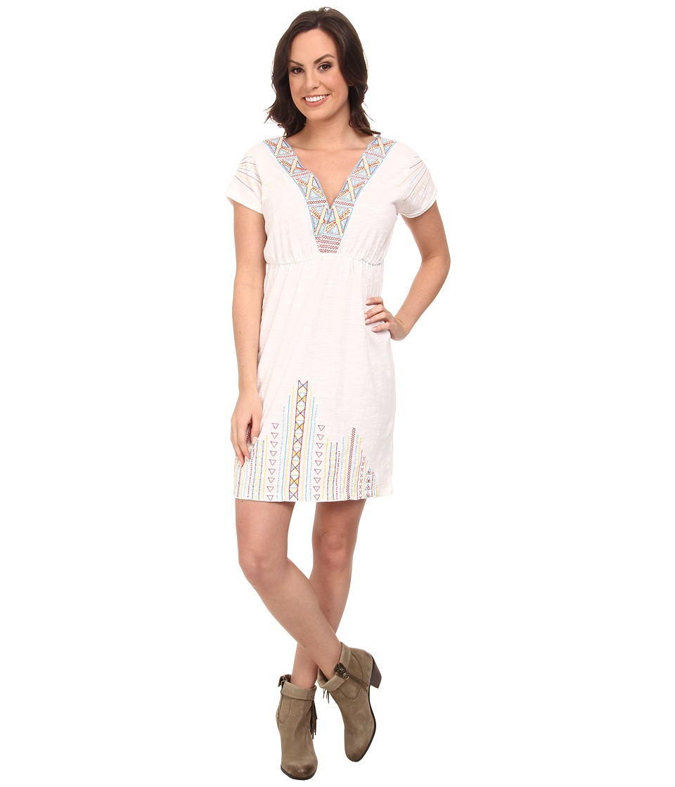 Rock and Roll Cowgirl - Short Sleeve Dolman Dress (Off White) Women's Dress
