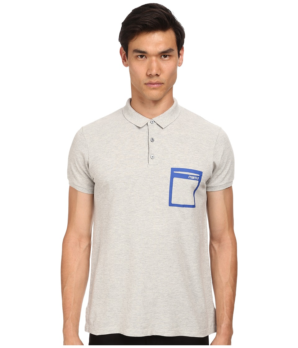 Marc by Marc Jacobs - Classic Polo w/ Coll (Grey Melange) Men's Short Sleeve Pullover