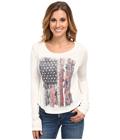 Rock and Roll Cowgirl - Long Sleeve T-Shirt (White) Women