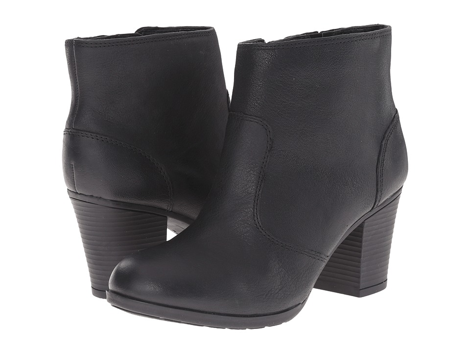 Rockport - City Casuals Catriona Zip Bootie (Black Dist Goat) Women's Zip Boots