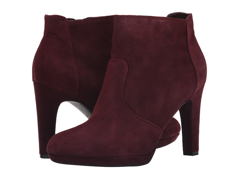 Rockport - Seven To 7 Ally High Bootie (Vino Suede) Women's Boots
