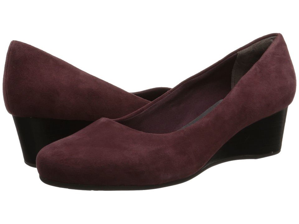 Rockport - Total Motion 45MM Wedge (Vino Kid Suede) Women's Shoes