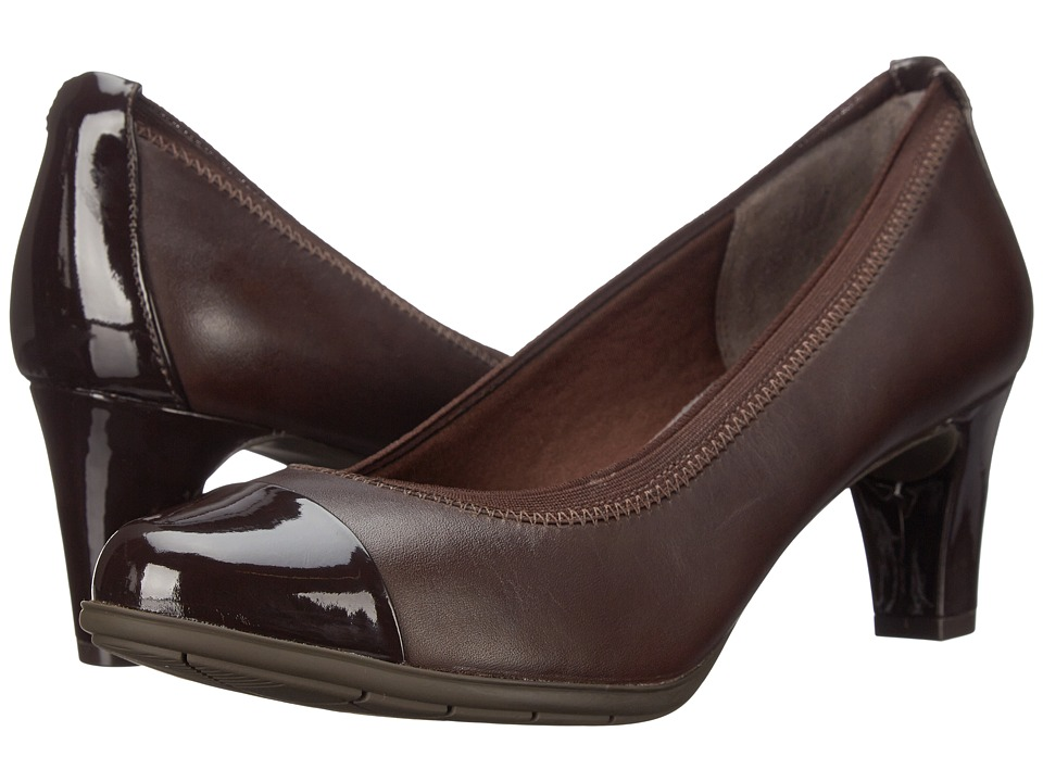 Rockport - Total Motion Melora Gore Cap Toe (Ebano Burn Calf) Women's Shoes