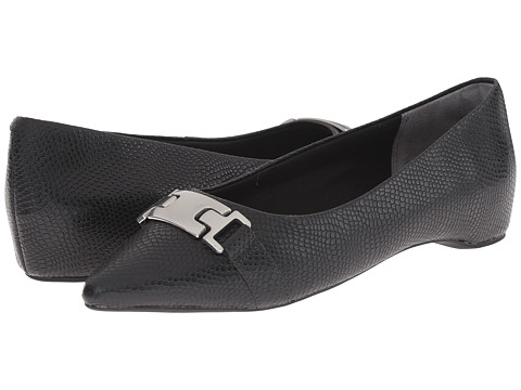 Rockport - Total Motion 30mm Hidden Wedge Buckle Ballet (Black Burn Snake) Women