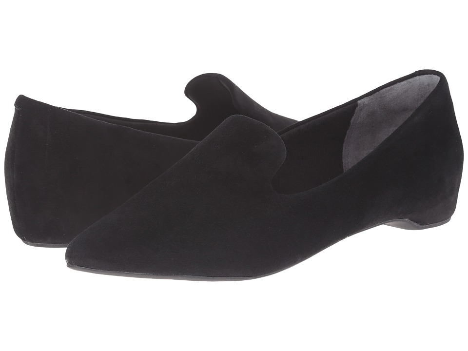 Rockport - Total Motion 30mm Hidden Wedge Smoking Loafer (Black Kid Suede) Women's Wedge Shoes