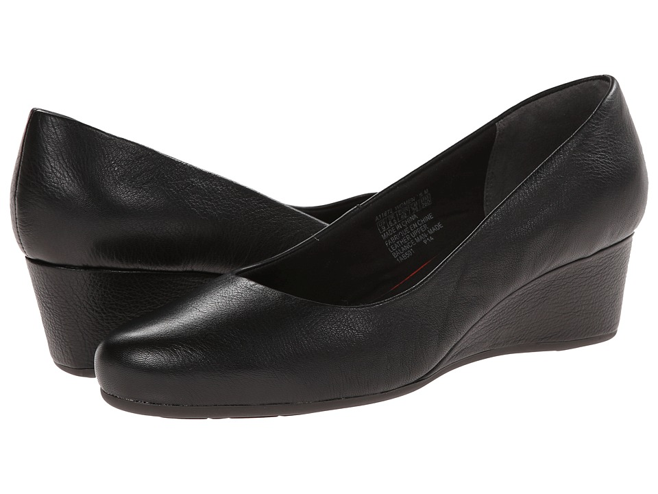 Rockport - Total Motion 45MM Wedge (Black Tumbled) Women's Shoes