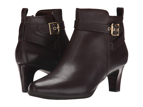 Rockport - Total Motion Melora Strap Bootie (Ebano Burn Calf) Women's Boots