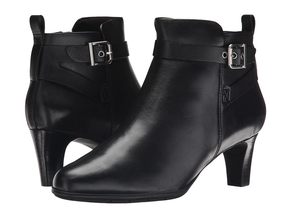 Rockport - Total Motion Melora Strap Bootie (Black Burn Calf) Women's Boots
