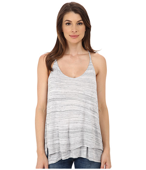 Splendid - Space Dye Luxe Tank Top (Heather Grey) Women's Sleeveless