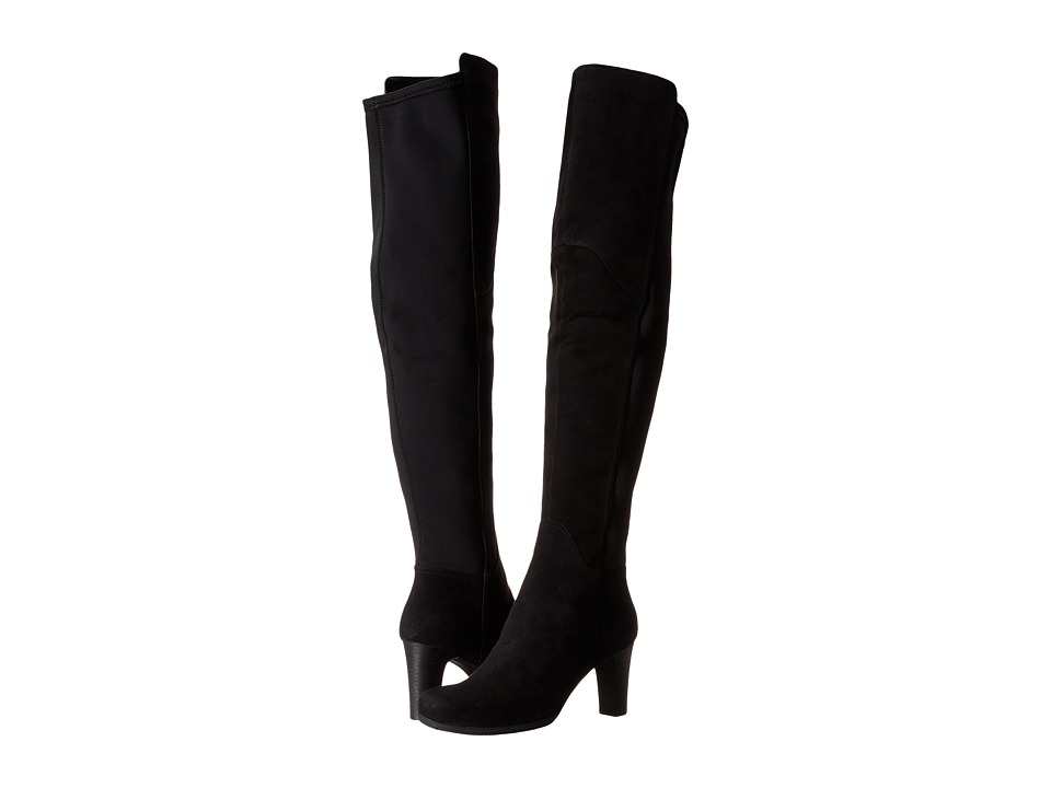 Rockport - Total Motion 75mm Over Knee Boot (Black Kid Suede) Women's Boots