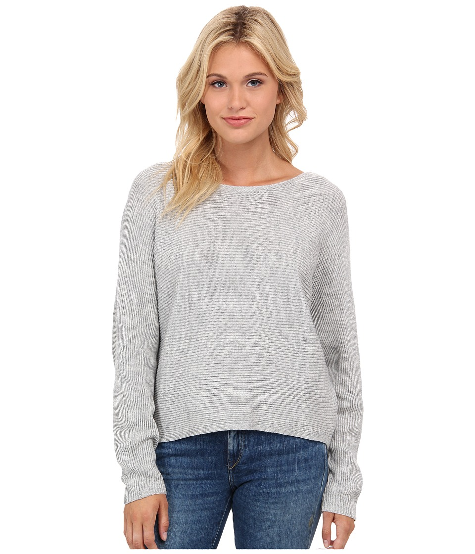 Splendid - Ribbed Pull Over Sweater (Heather Grey) Women