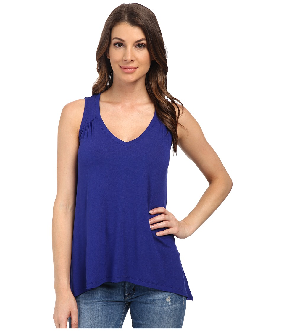 Splendid - Drapey Lux Tank Top (Cerulean) Women's Sleeveless
