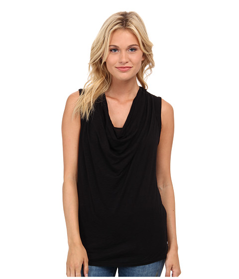 Splendid - Slub Cowl Neck Tank Top (Black) Women's Sleeveless