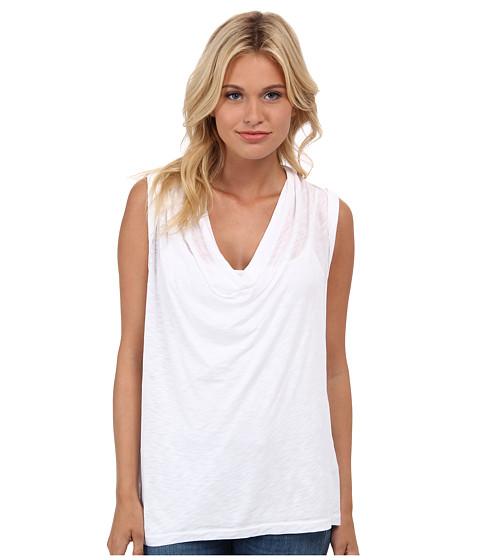 Splendid - Slub Cowl Neck Tank Top (White) Women