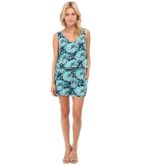Splendid - Mediterranean Blossom Romper (Vivid Green) Women