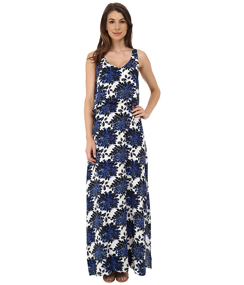 Splendid - Mediterranean Blossom Maxi Dress (Royal Blue) Women's Dress