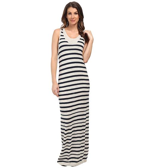 Splendid - Sweater Maxi Dress (Heather Grey/Navy) Women's Dress