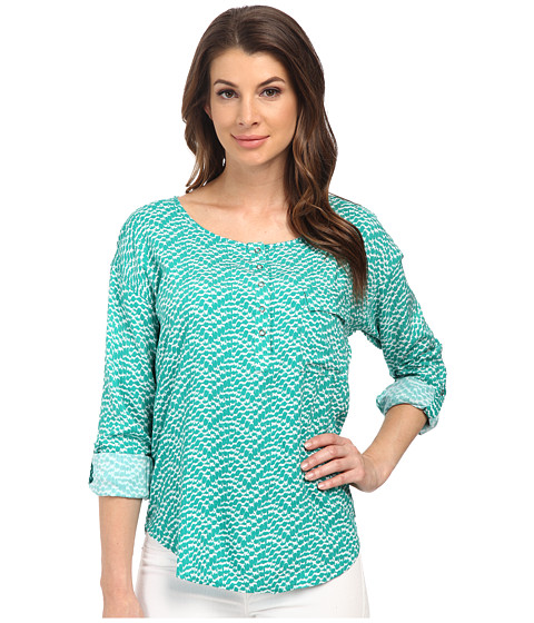 Splendid - Plume Print Blouse (Vivid Green) Women's Blouse