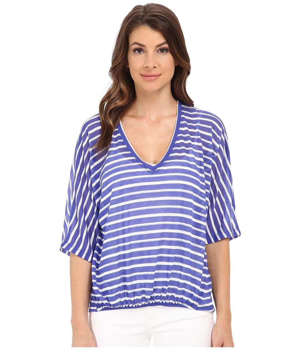 Splendid - Valletta Stripe Jersey (Royal Blue) Women's Clothing