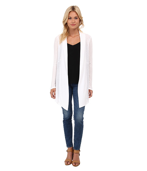 Splendid - Heathered Thermal Cardigan (White) Women's Sweater