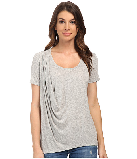 Splendid - Drapey Lux Tee (Heather Grey) Women's T Shirt