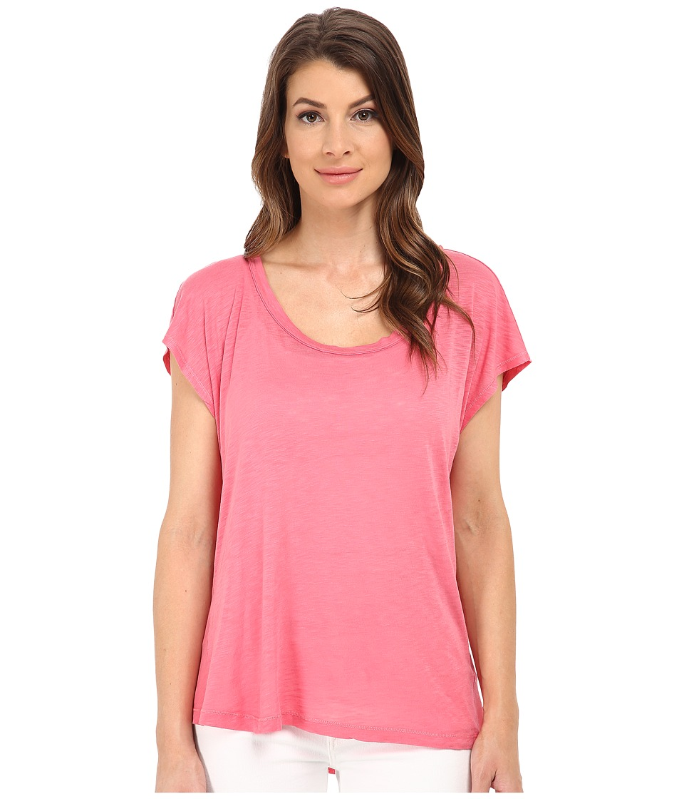 Splendid Slub Open Back Tee (Desert Rose) Women