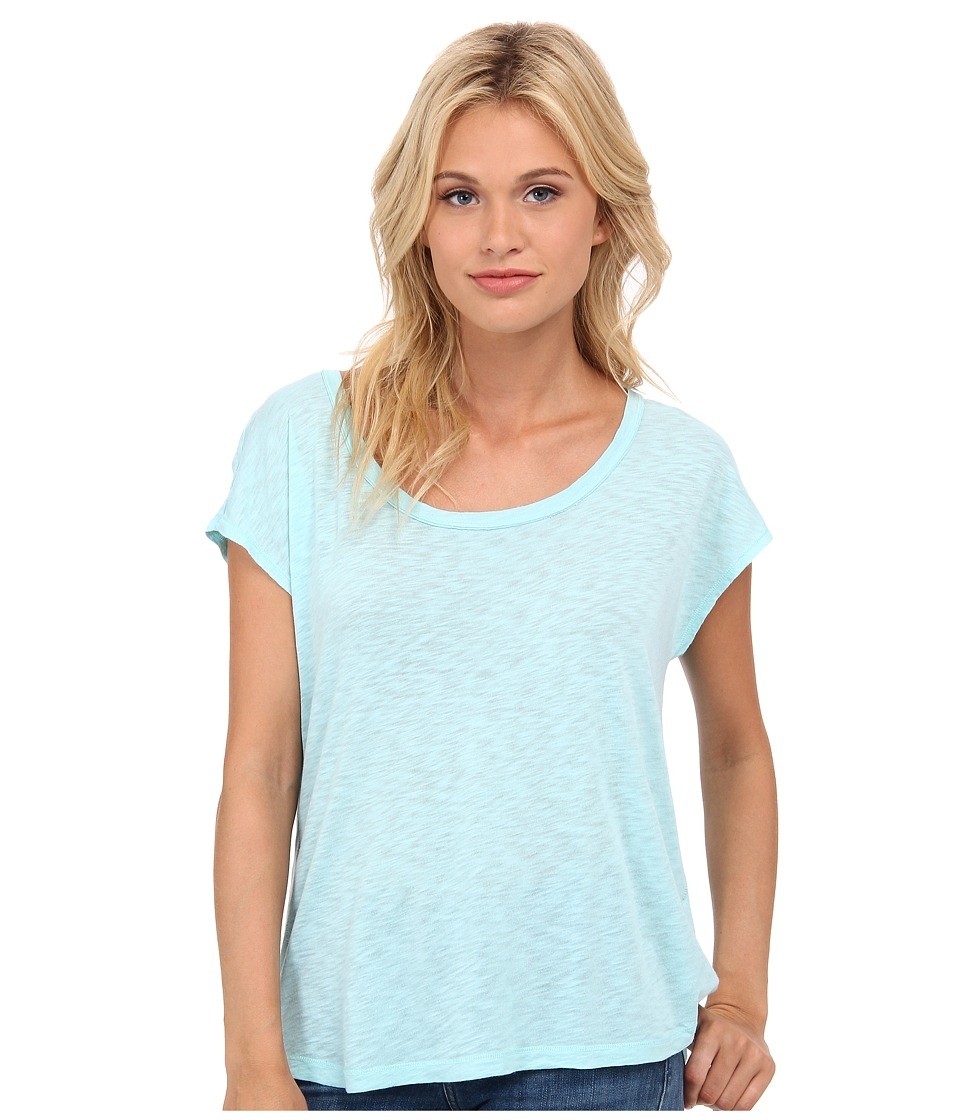 Splendid Slub Open Back Tee (Aruba Blue) Women