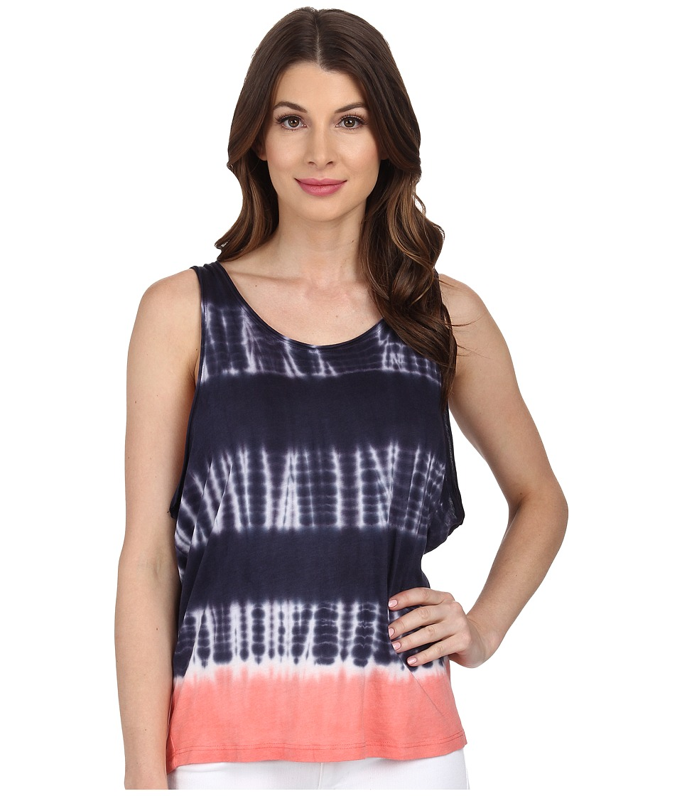 Splendid - Karpaz Tie-Dye Tank Top (Navy) Women's Sleeveless