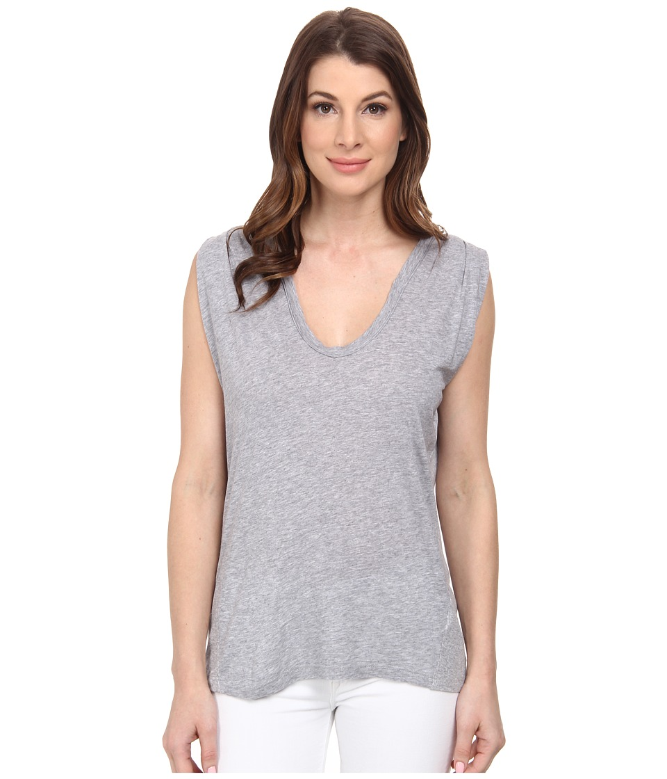 Splendid - Very Light Jersey with Rib Tank Top (Heather Grey) Women