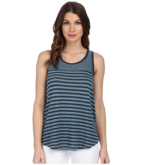 Splendid - Monterosso Stripe Mix Tank Top (Grey Mist) Women