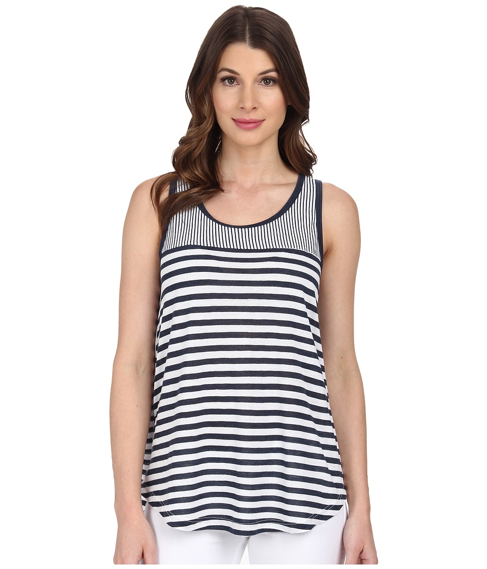 Splendid - Monterosso Stripe Mix Tank Top (White) Women's Sleeveless