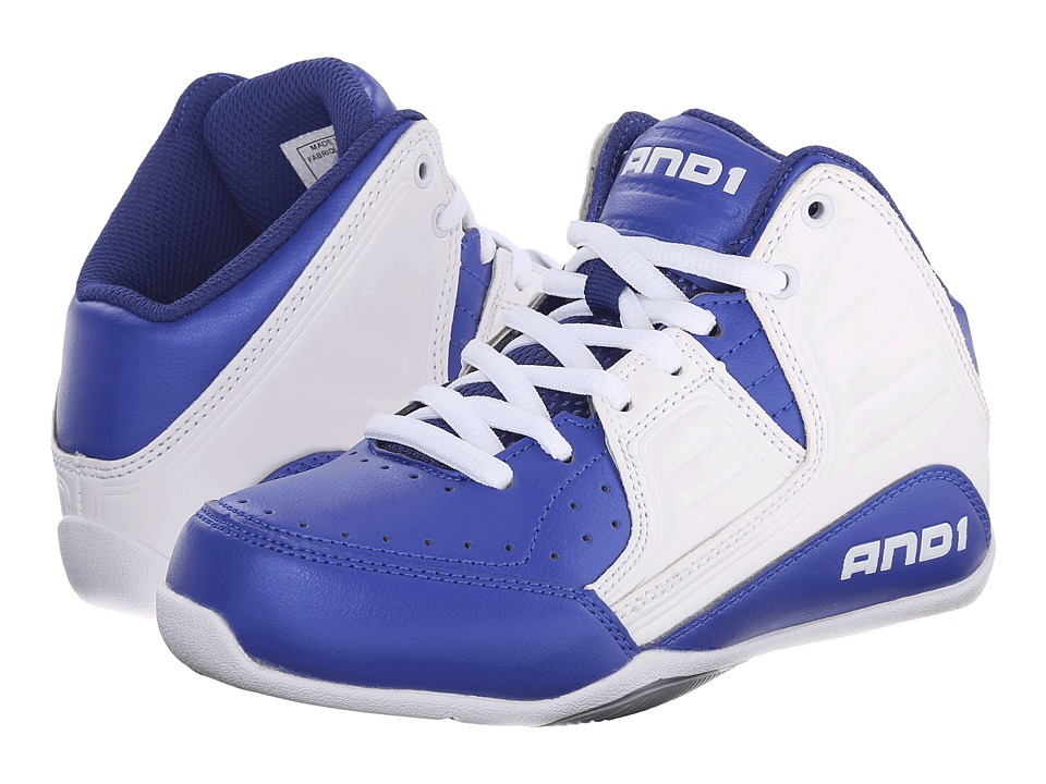 AND1 Kids - Rocket 4 (Little Kid/Big Kid) (Surf the Web/White/Silver) Boys Shoes