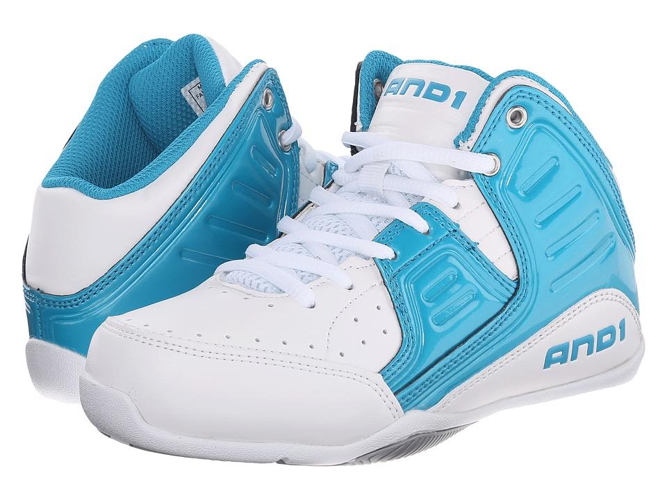 Image of AND1 Kids - Rocket 4 (Little Kid/Big Kid) (Capri Breeze/White/Silver) Boys Shoes