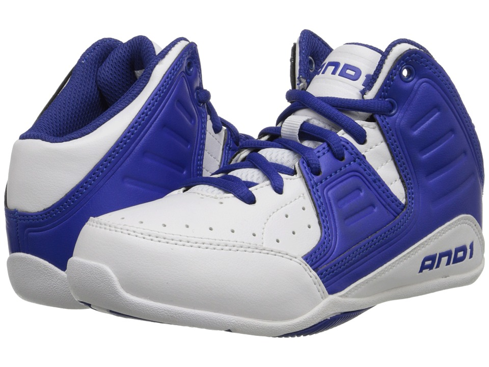 AND1 Kids - Rocket 4 (Little Kid/Big Kid) (White/Blue/White) Boys Shoes