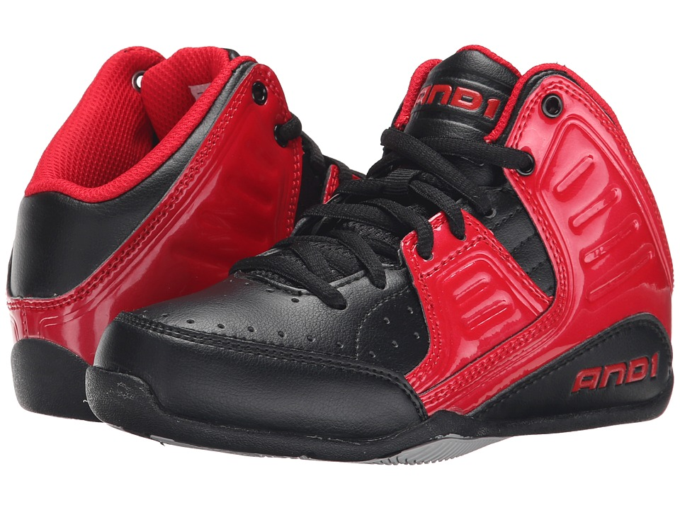 AND1 Kids - Rocket 4 (Little Kid/Big Kid) (Formula 1 Red/Black/Silver) Boys Shoes