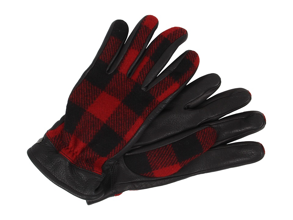 UGG - McLain Buffalo Plaid Glove (Black Multi) Extreme Cold Weather Gloves