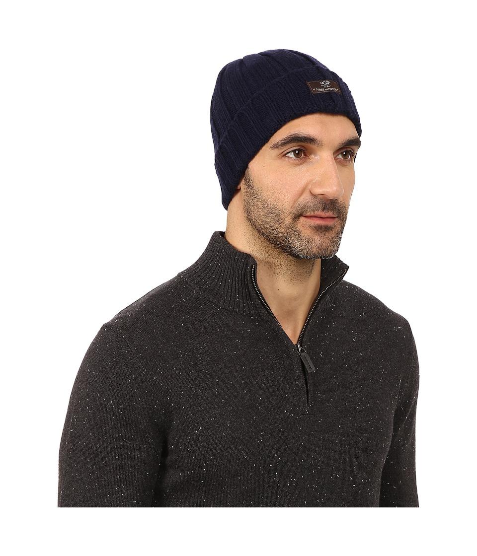 UGG - Calvert Cuff Hat (Peacoat) Beanies