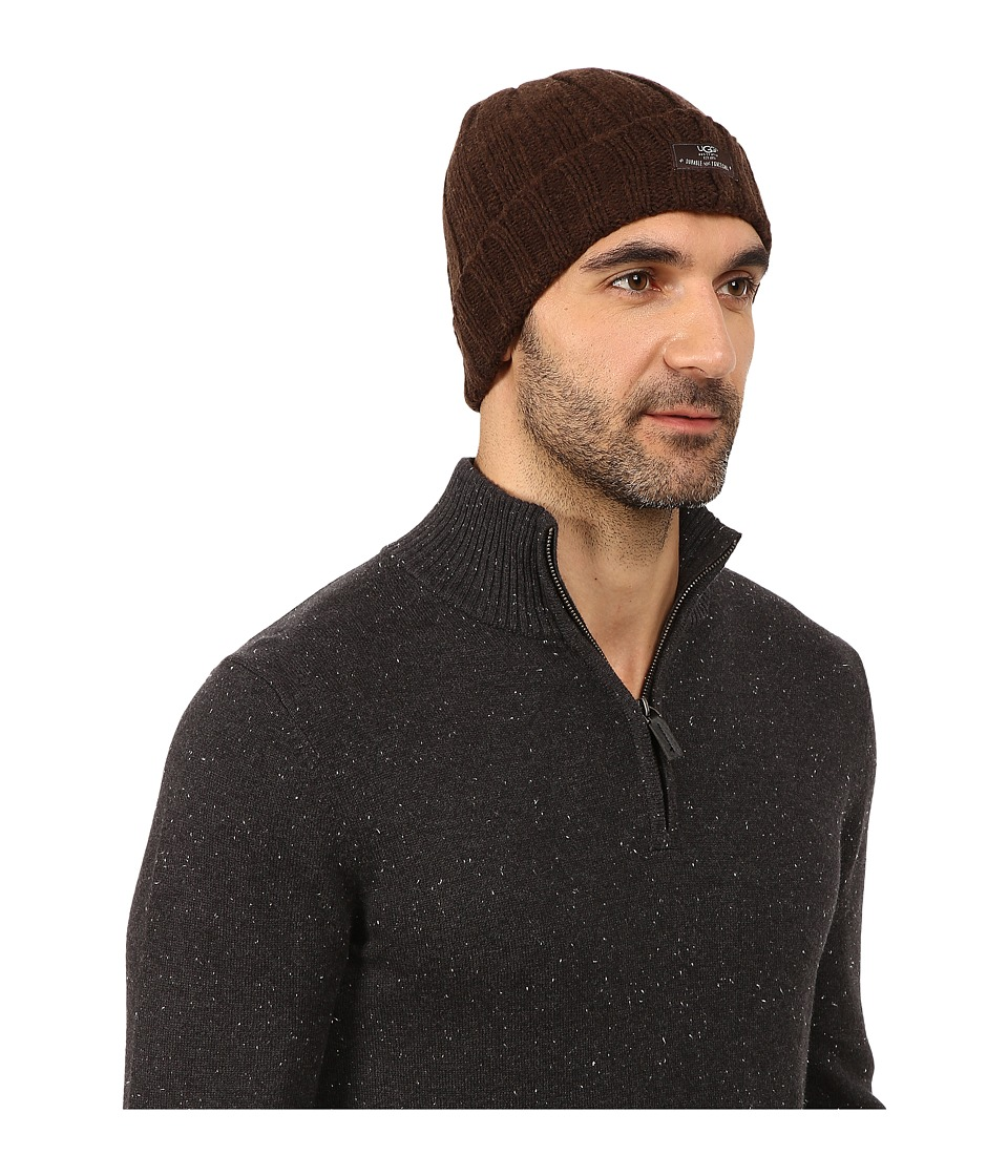UGG - Calvert Cuff Hat (Stout Heather) Beanies