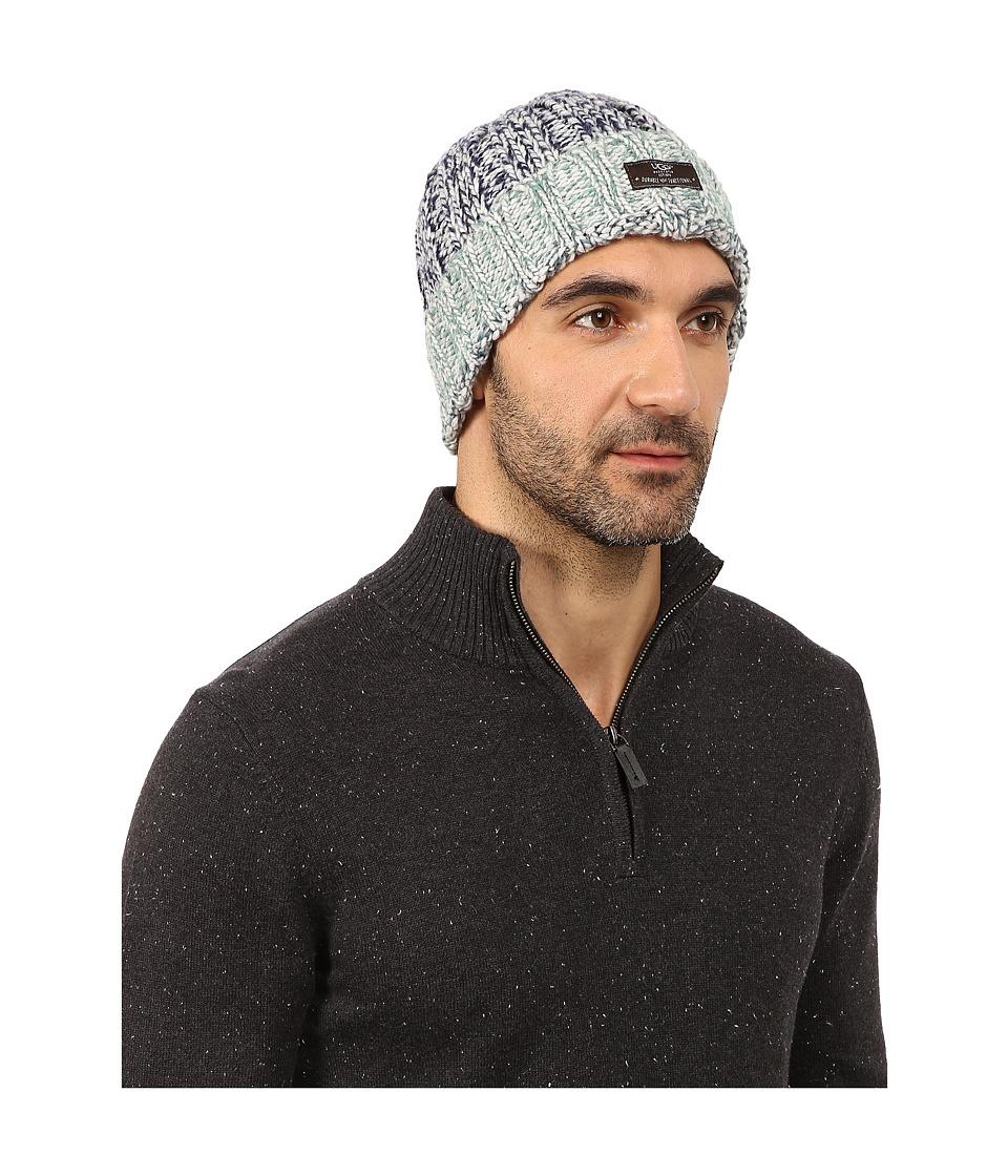 UGG - Calvert Cuff Hat (Navy Multi) Beanies
