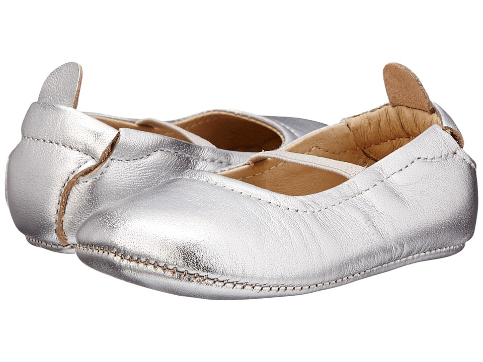Old Soles - Luxury Ballet Flat (Infant/Toddler) (Silver) Girls Shoes
